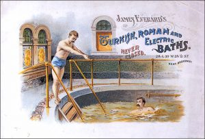 Steam, though beneficial for health, played havoc with the luxurious 'taches of the era.